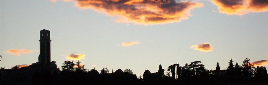 Agriturismo La Valletta — Monte Berico al tramonto
